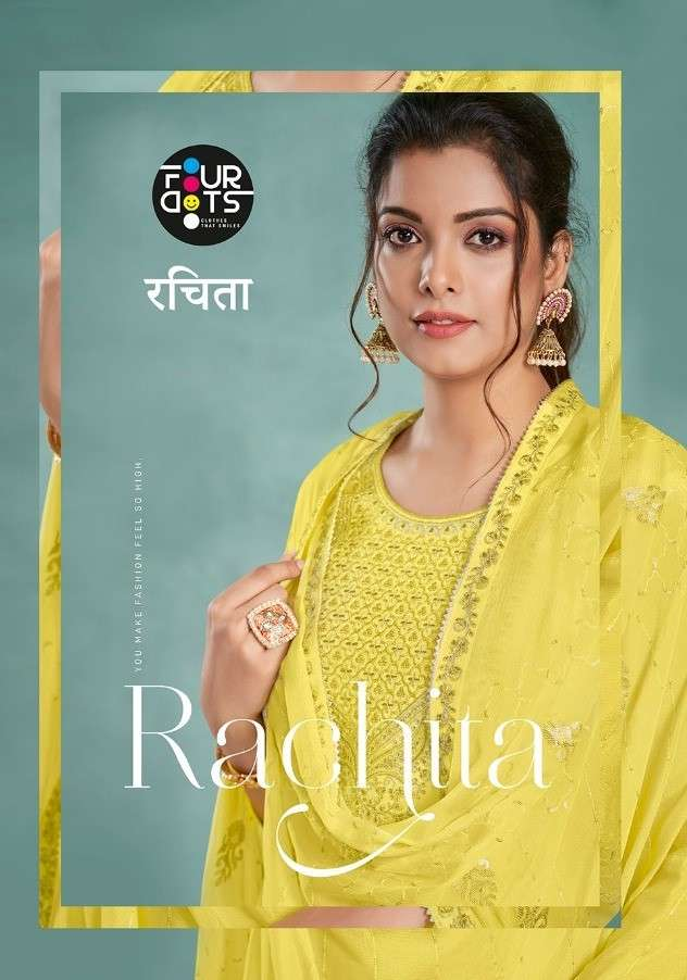 Fourdots Rachita Exclusive Stylish Crepe Suit New catalog Wholesaler