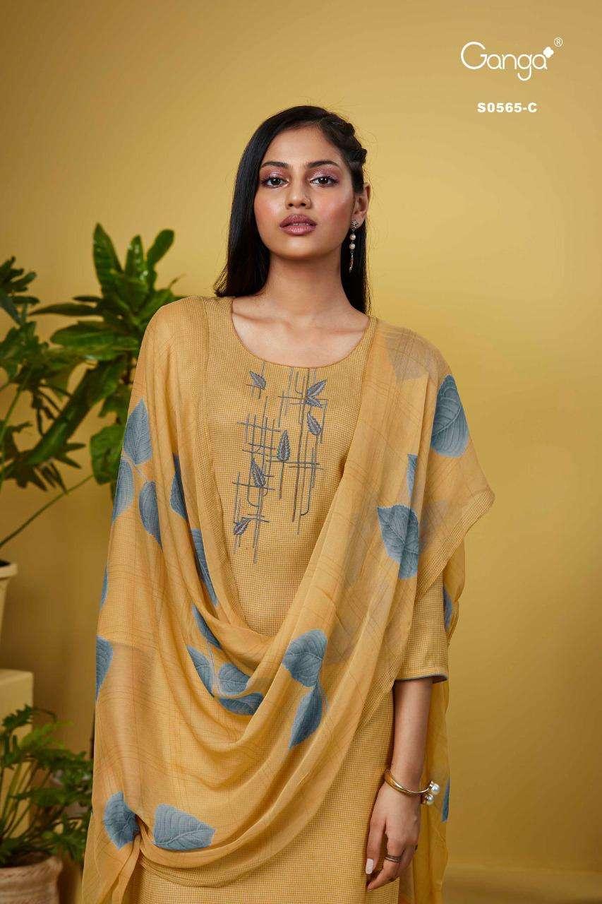Ganga Deeba 565 Designer Cotton Salwar Kameez catalog Wholesale Price