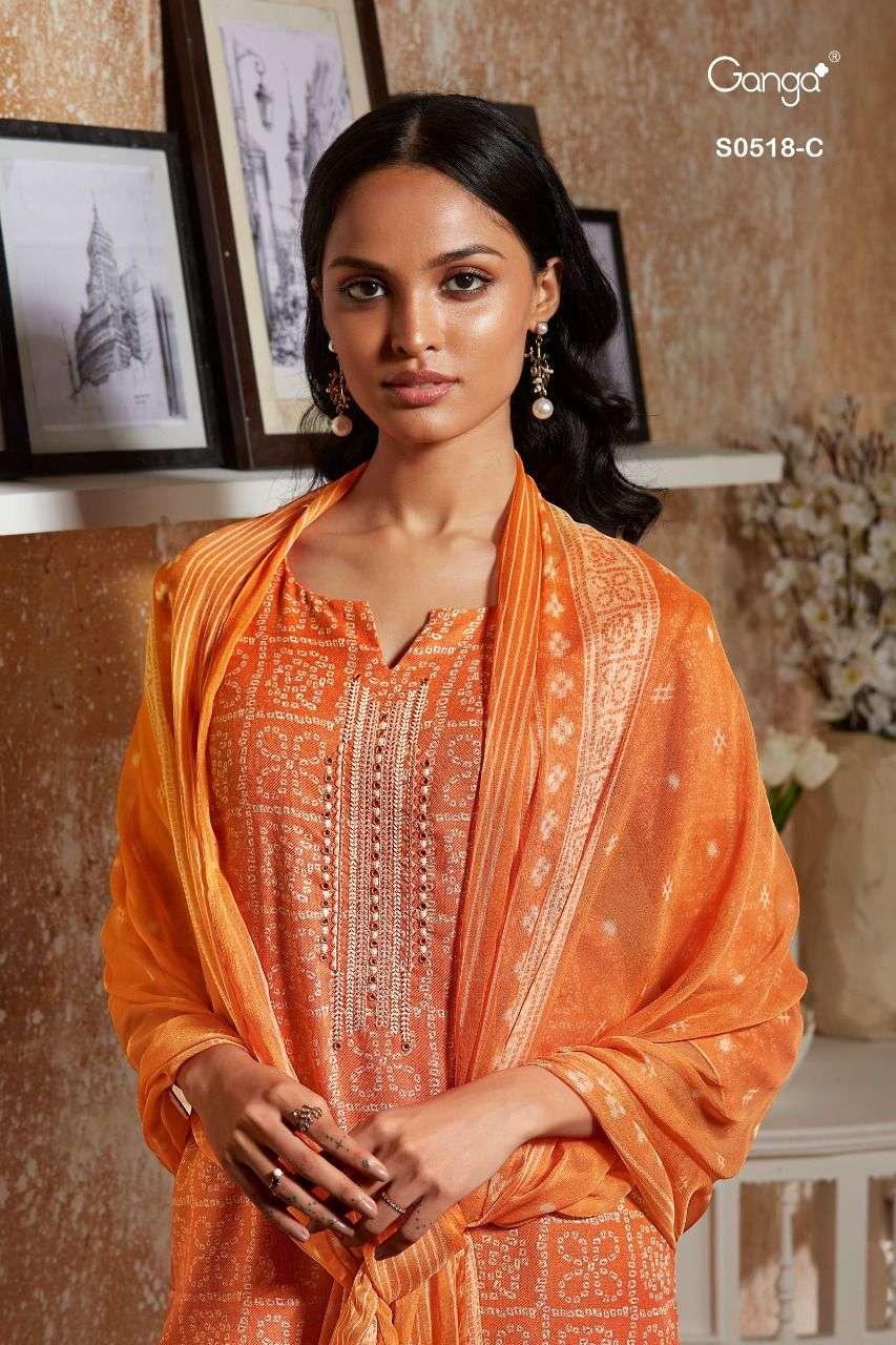 Ganga Destan 518 Wholesale Pashmina Suit Dealer Surat Wholesale