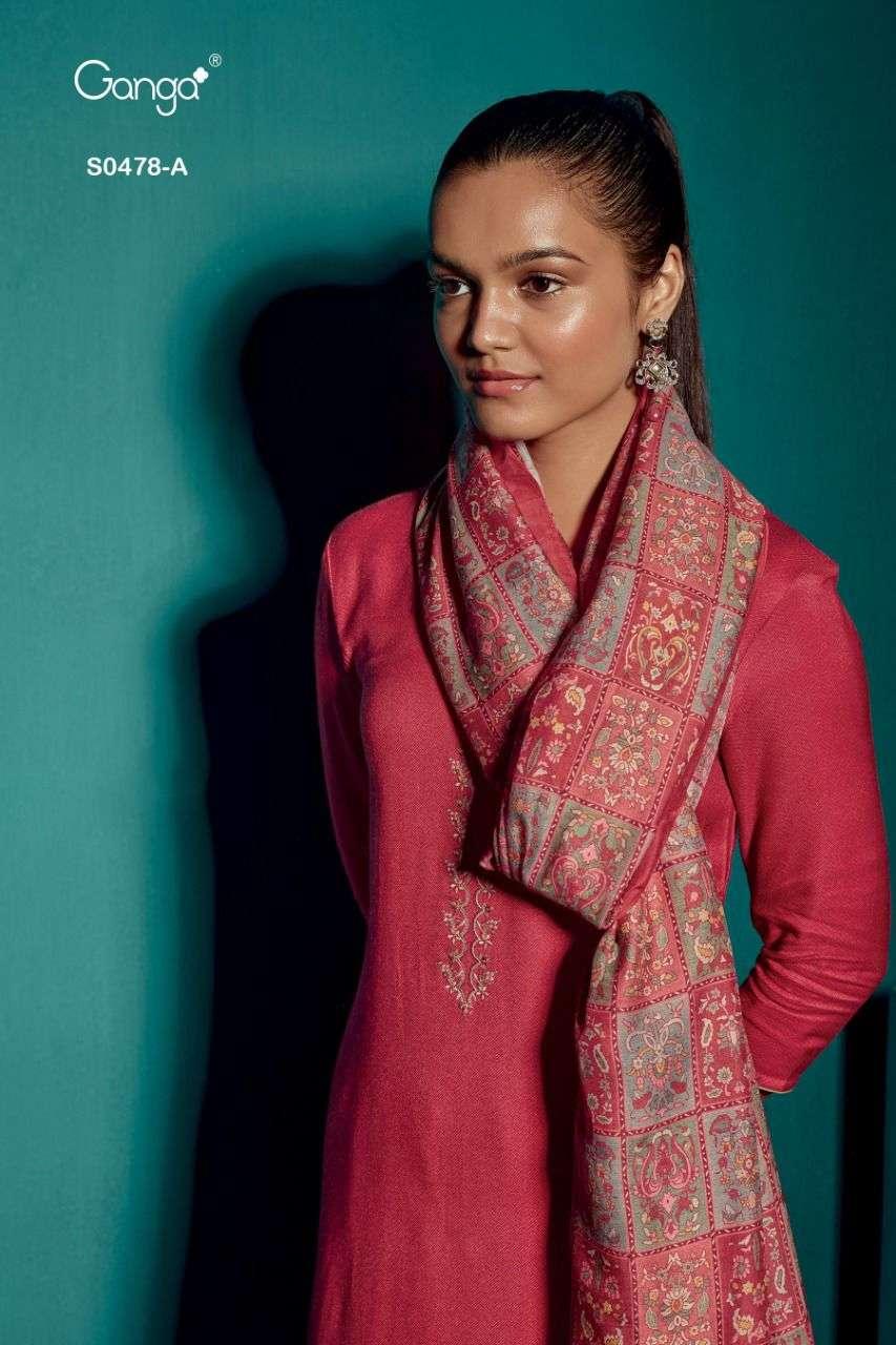 Ganga Elyse 478 Pashmina Dobby Swarovski Work Salwar Suit
