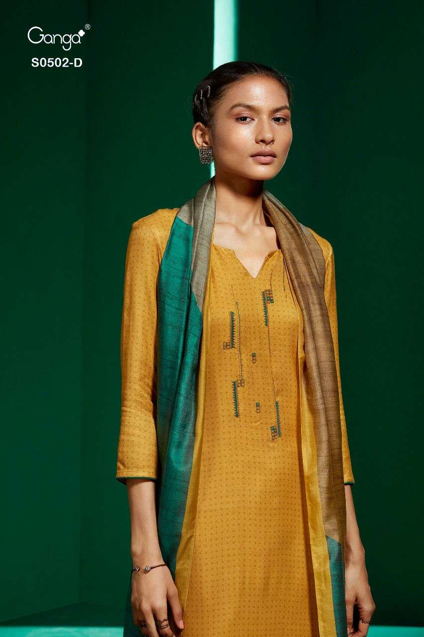 Ganga Elyse 502 Pashmina Salwar Suits For Ladies In Wholesale