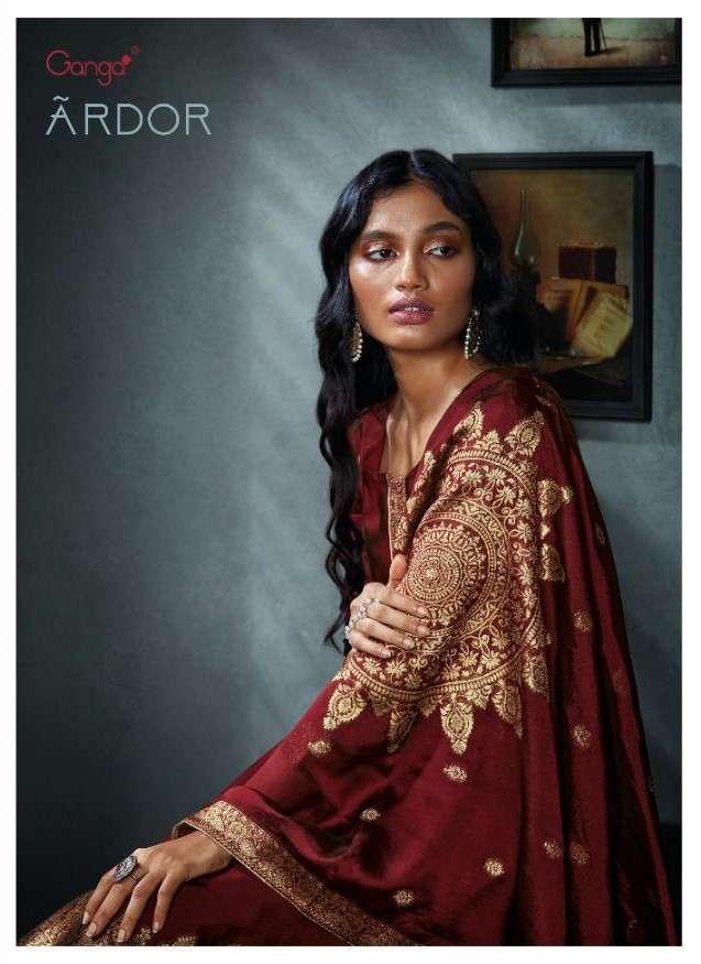 Ganga Fashion Ardor Designer Silk Salwar Suit Catalog Wholesale Price