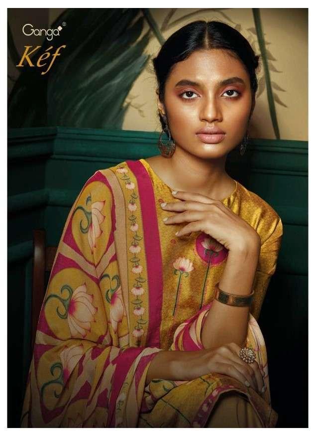 Ganga fashion Kef Exclusive Designer Silk Salwar Suit Catalog Wholesale Price