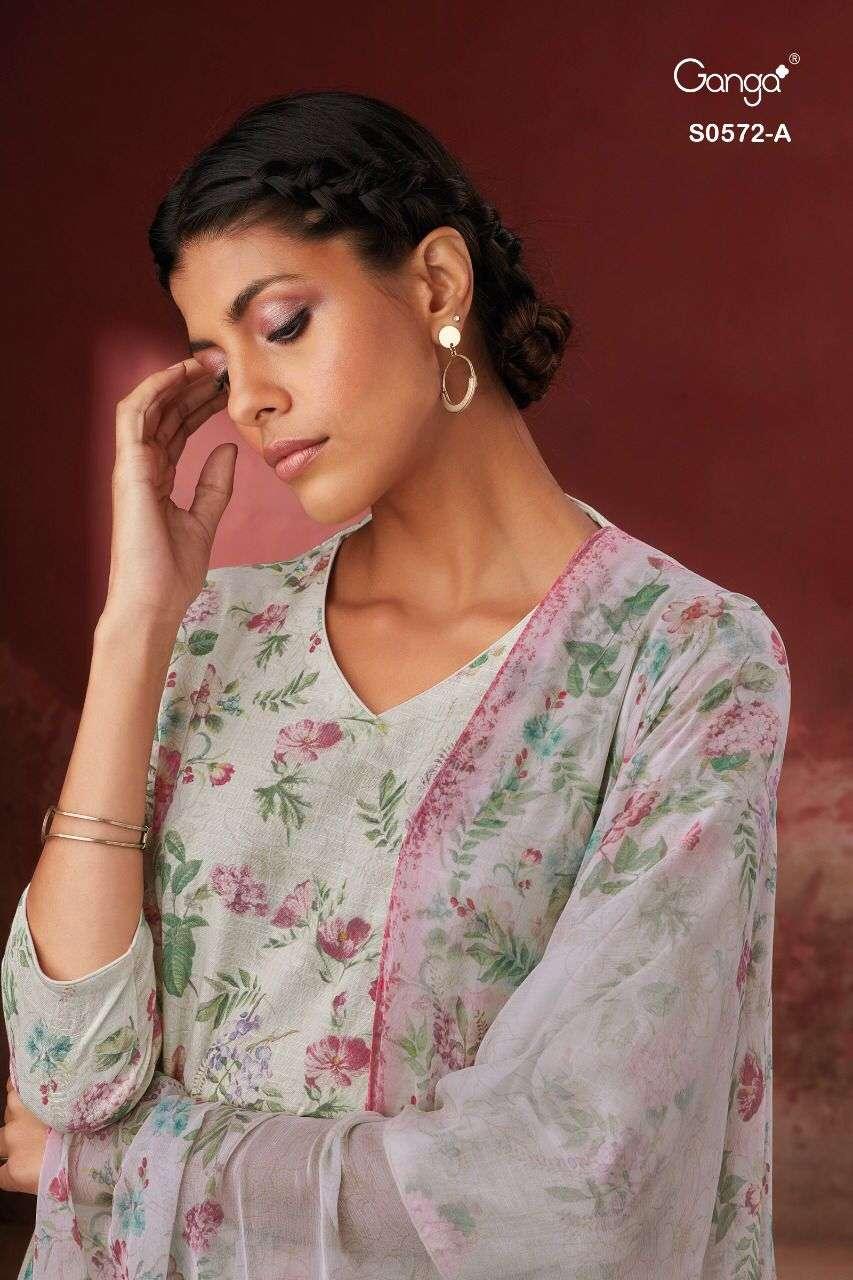 Ganga Guddi 572 Fancy Cotton Linen Salwar Kameez Catalog Wholesale Supplier