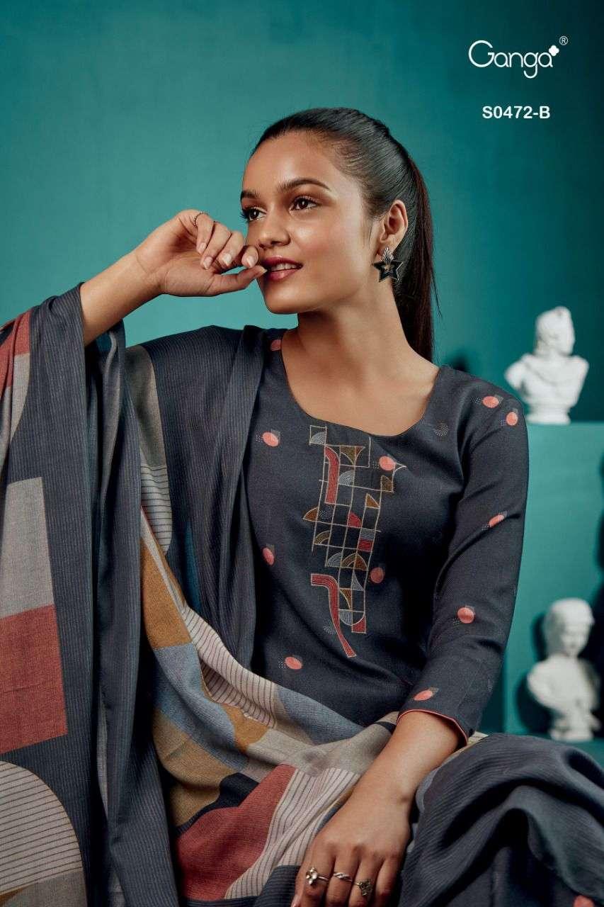 Ganga Hiraya 472 Wholesale Pashmina Ganga Suit In Best Price Dealer