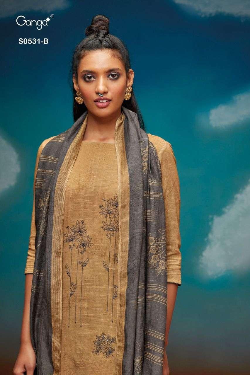 Ganga Inna 531 Cotton Linen Fancy Salwar Kameez Wholesaler