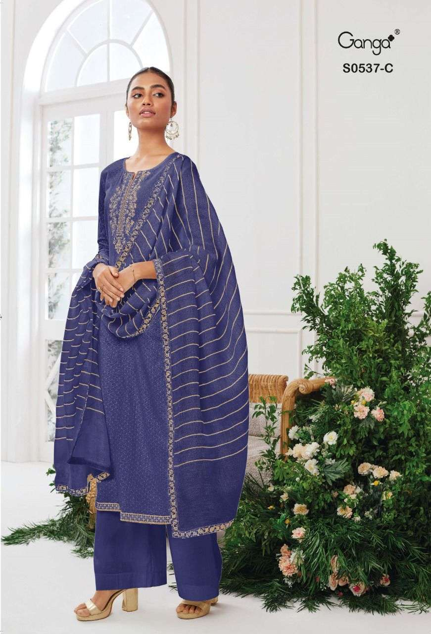 Ganga Tansy 537 Exclusive Designer Cotton Salwar Kameez Catalog Wholesaler
