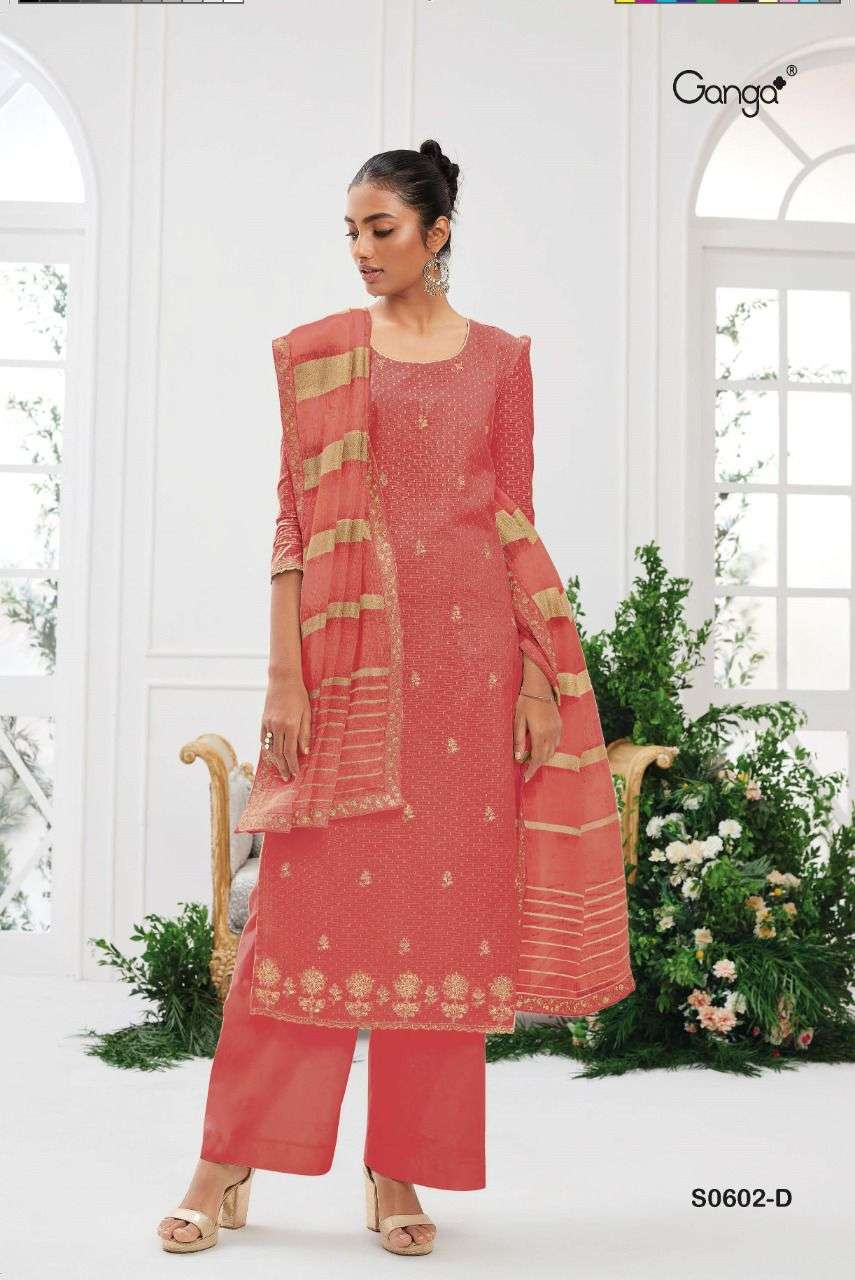Ganga Tansy 602 Exclusive Cotton jacquard Ladies ganga Suit Collection