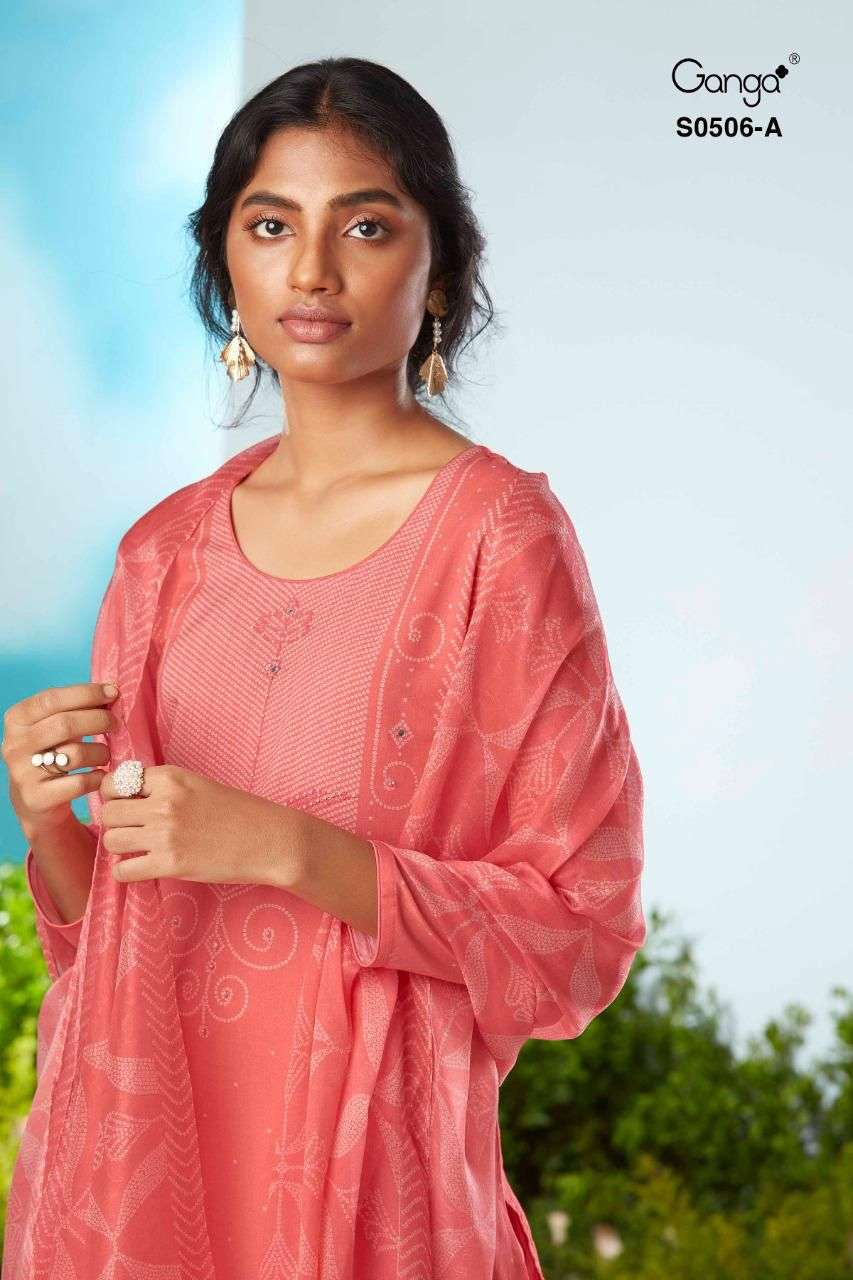 Ganga Vanya 506 Exclusive Printed Silk Salwar Suit catalog Supplier