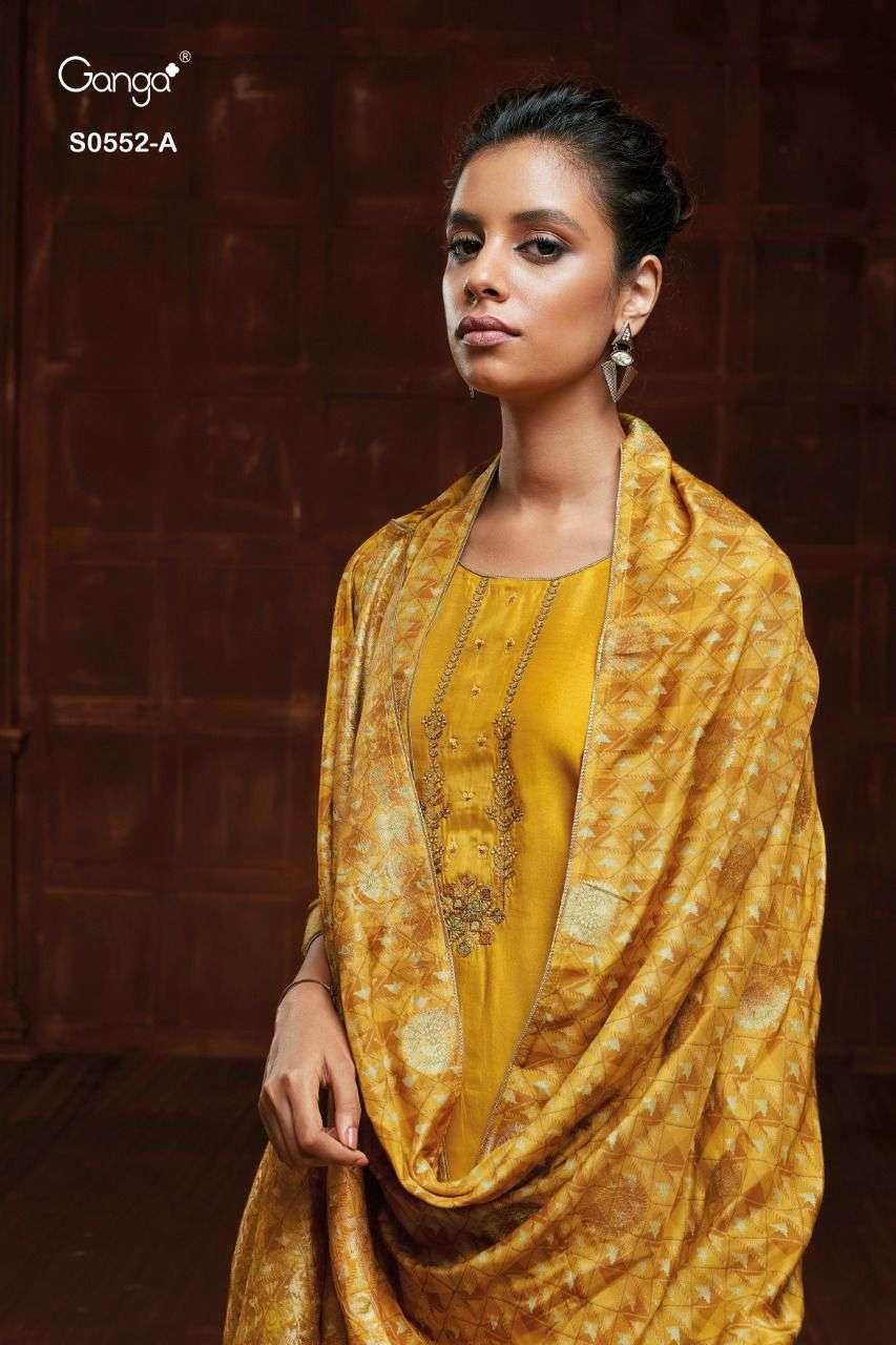 Ganga Vanya 552 Designer Work Silk Suit By Ganga Wholesaler Surat