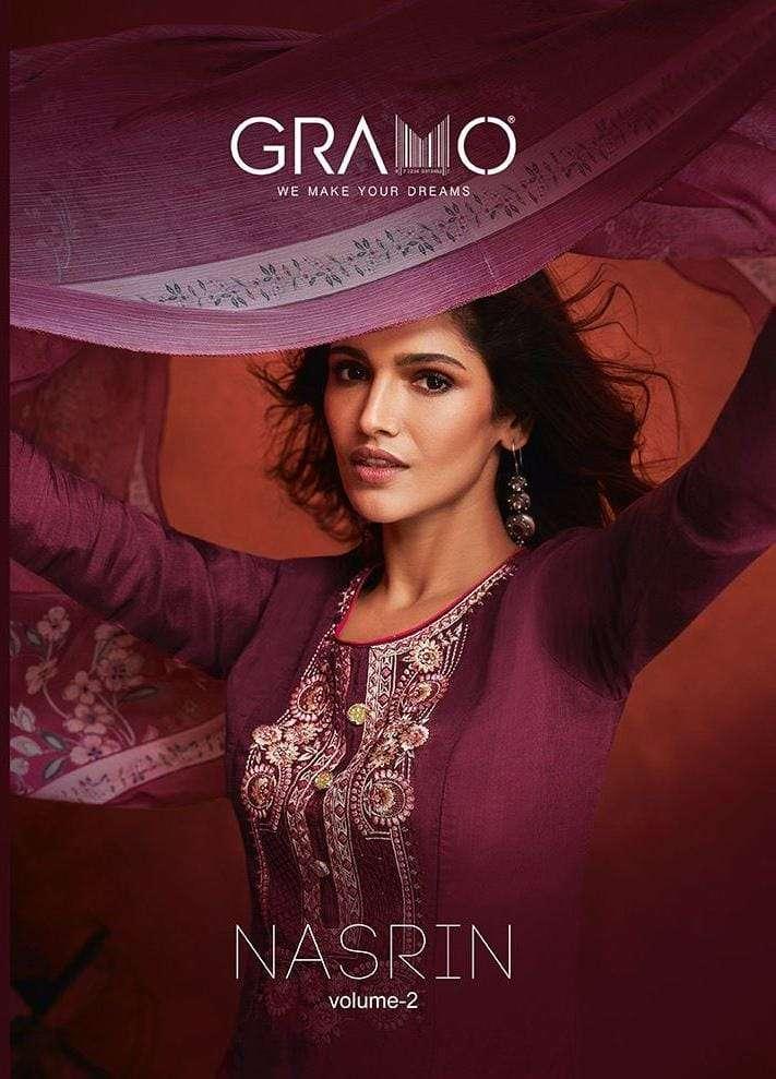 Gramo Nasrin Vol 2 Exclusive Designer Upada Silk Salwar Suit catalog Wholesaler