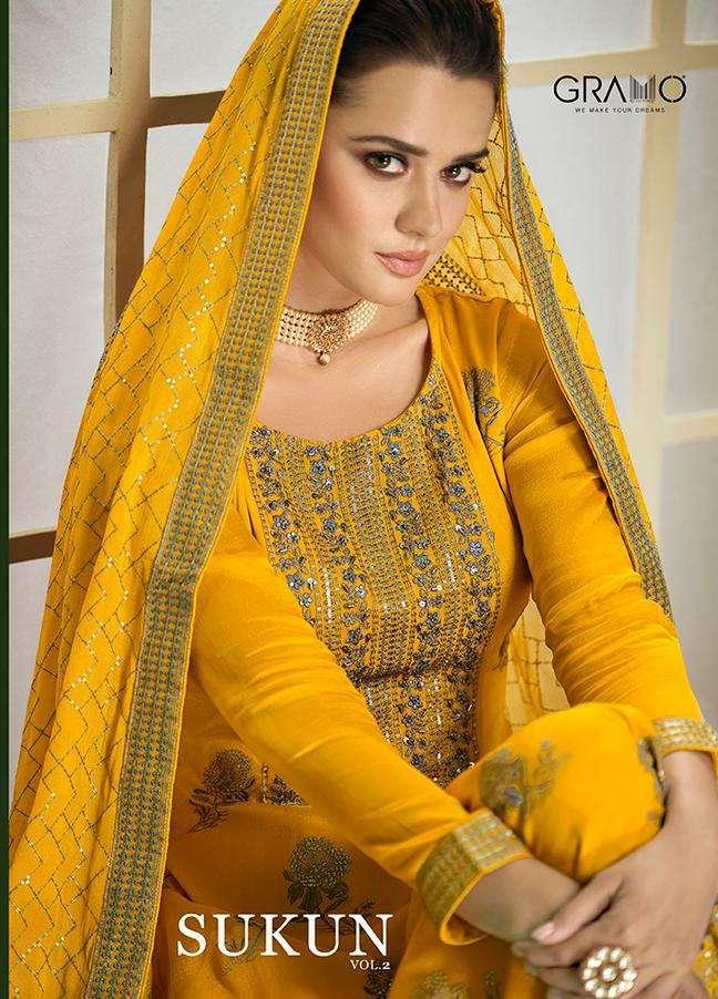Gramo Sukun Vol 2 Party Wear Salwar kameez Catalog Wholesale Dealer