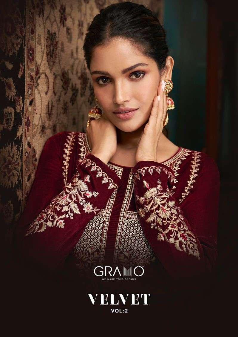 Gramo Velvet Vol 2 Exclusive velvet Salwar Kameez Catalog Wholesaler