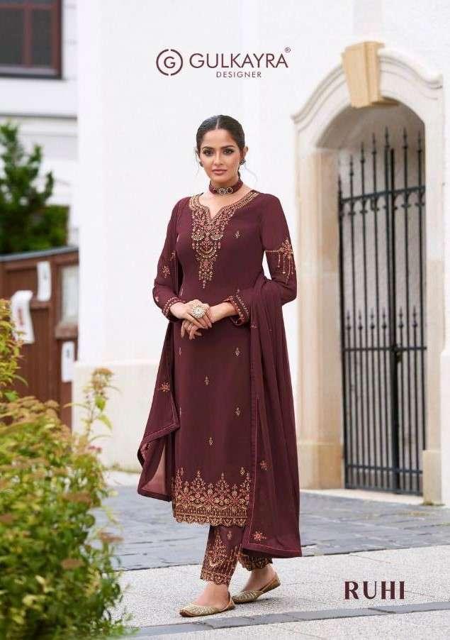 Gulkayra Ruhi Fancy Designer Straight Suit Catalog Wholesale Dealer
