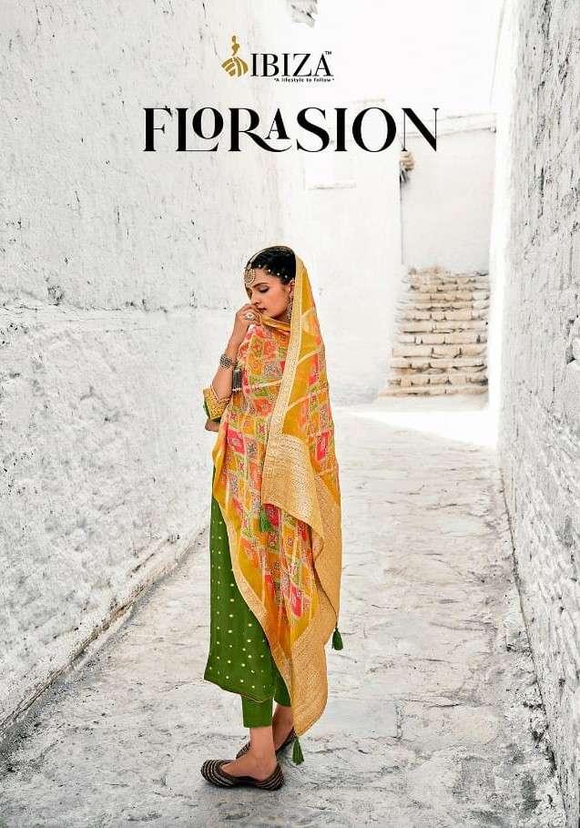 Ibiza Florasion Exclusive Chinon Jacquard Designer Salwar Kameez Catalog Wholesale Price
