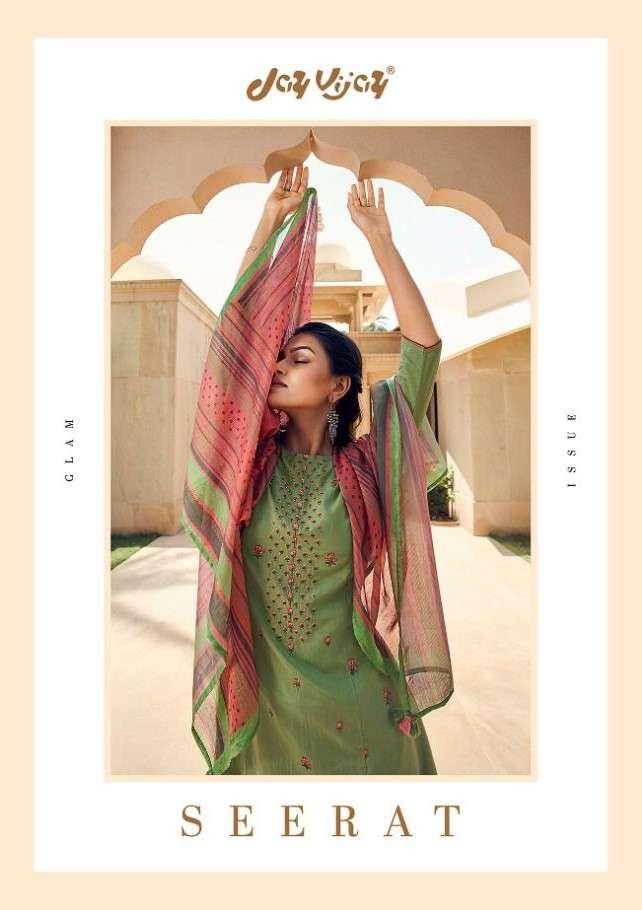 Jay Vijay Seerat Pure Moga Silk Embroidery Salwar Kameez Wholesaler Surat
