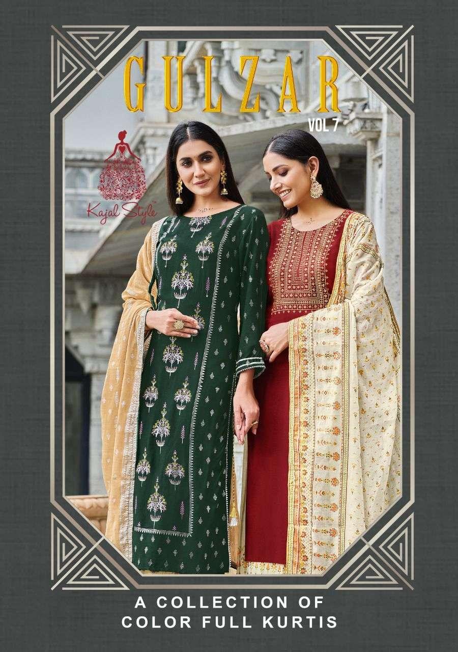 Kajal Style Gulzar Vol 7 Readymade Kurti Pant Dupatta Collection Wholesale Price
