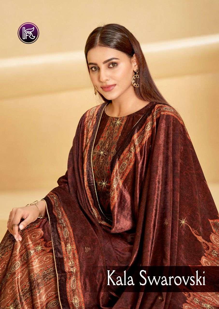 Kala Fashion Kala Swarovski Exclusive Velvet Salwar kameez catalog Wholesaler