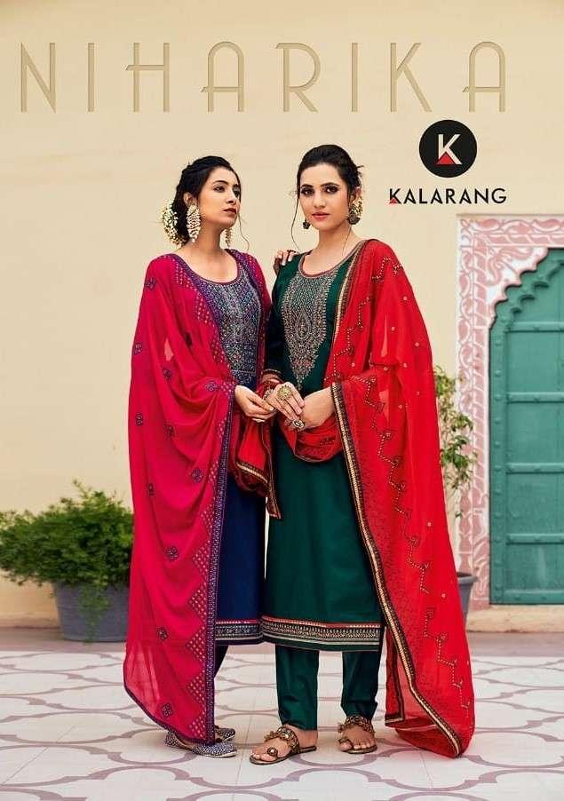 Kalarang Niharika Exclusive Jam Silk Salwar kameez Catalog Wholesale dealer