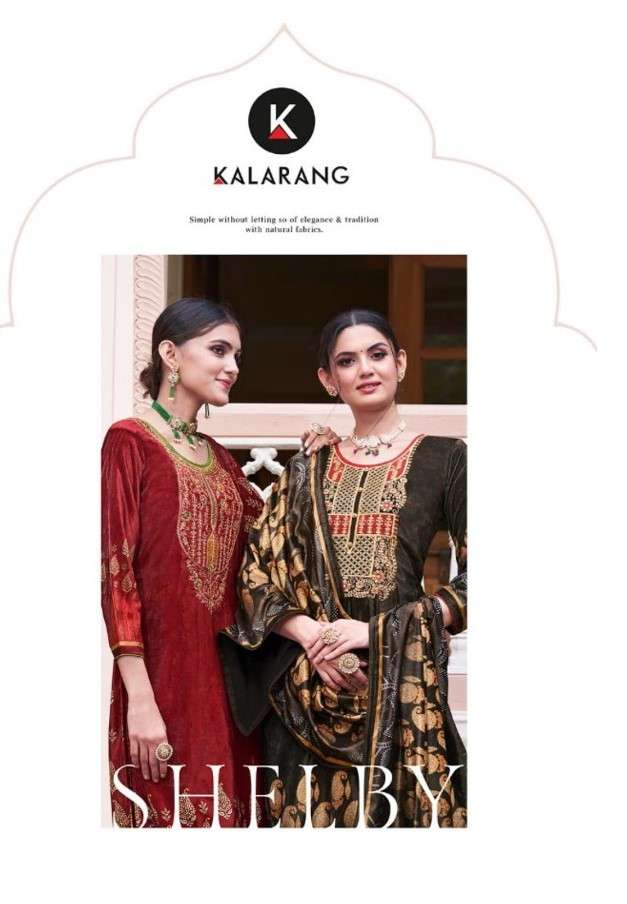 Kalarang Shelby Exclusive Printed Velvet Salwar kameez Catalog Wholesaler