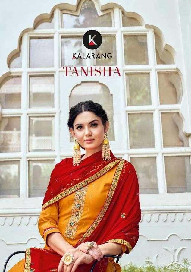 Kalarang Tanisha Jam Silk Suit With Embroidery Wholesale