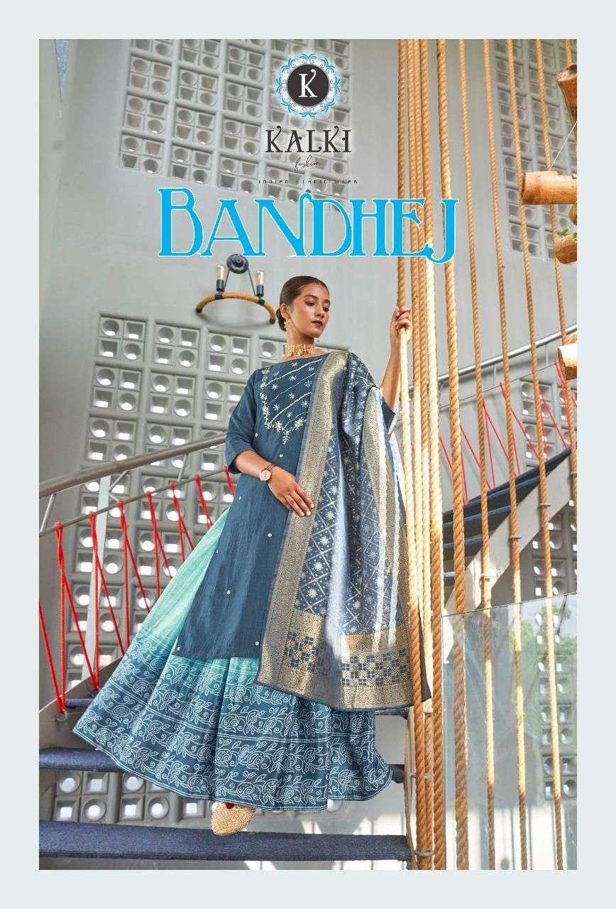 Kalki Bandhej Catalog Readymade Kurti Lehenga Dupatta Set new Designs