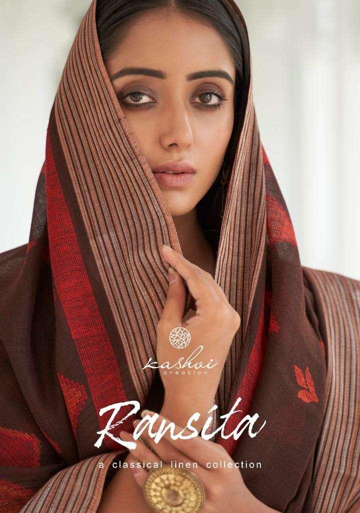 Kashvi Ransita Exclusive Fancy Linen Saree Catalog Supplier