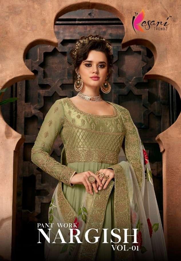 Kesari Trends Nargish Vol 1 Anarkali Exclusive Festive Wear Dress Catalog Wholesaler