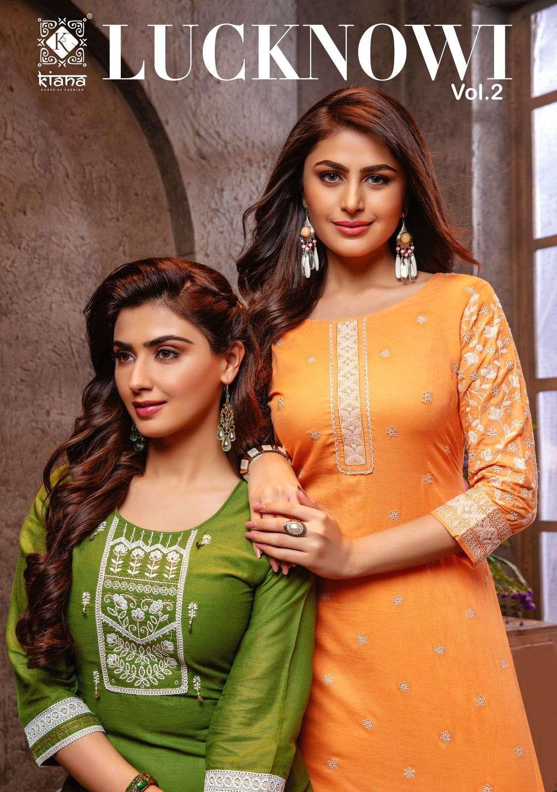 Kiana Lucknowi Vol 2 Exclusive Fancy Cotton Kurti Bottom Set Catalog Wholesaler