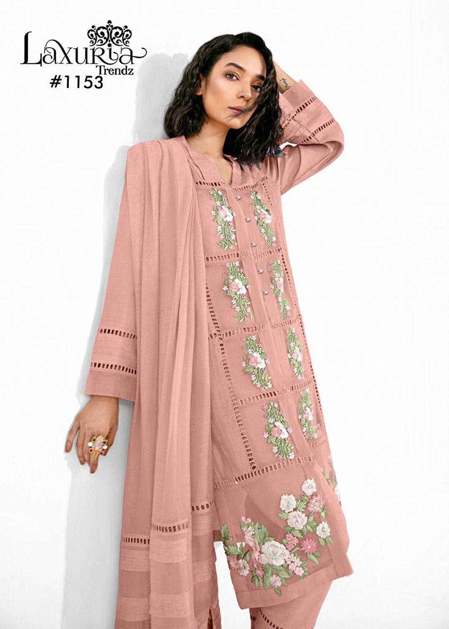 Laxuria Trends 1153 Fancy Pakistani Style Kurti With Pants Dupatta Wholesale
