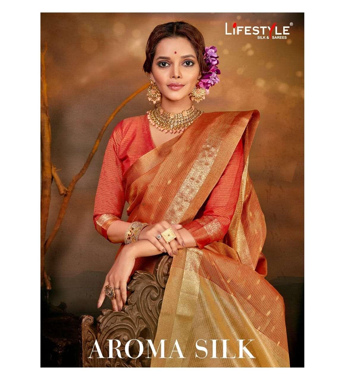 Lifestyle Aroma Silk Exclusive Silk Saree Catalog Wholesale price