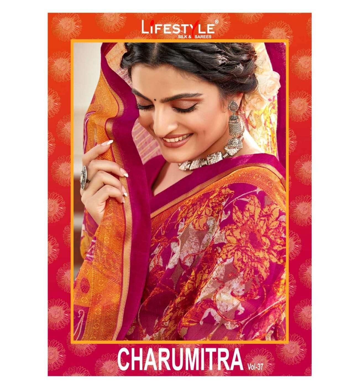 Lifestyle Charu Mitra Vol 37 Fancy Indian Cotton Saree Catalog Wholesaler