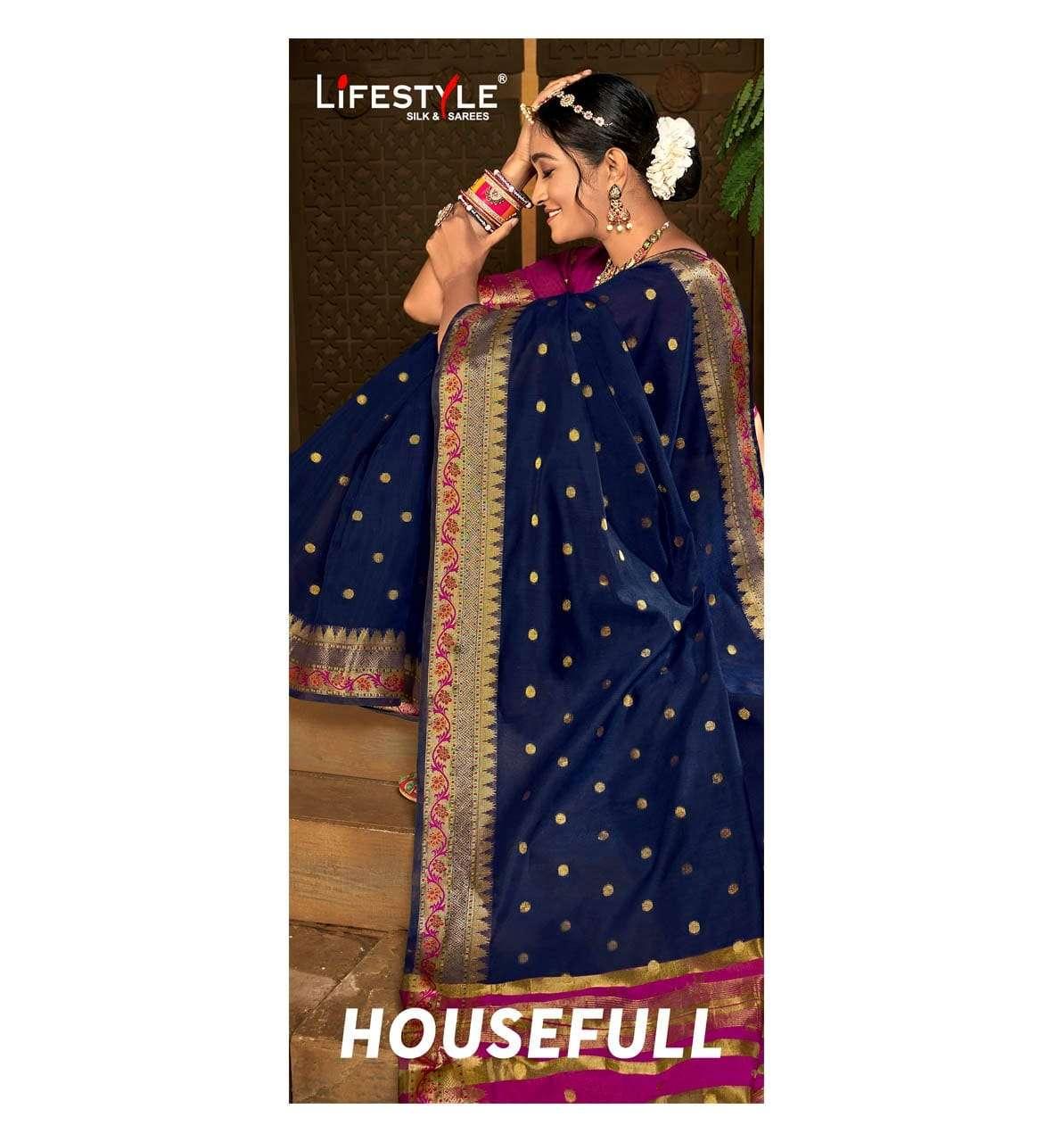 Lifestyle Housefull Fancy Chanderi Silk saree Catalog Wholesale price