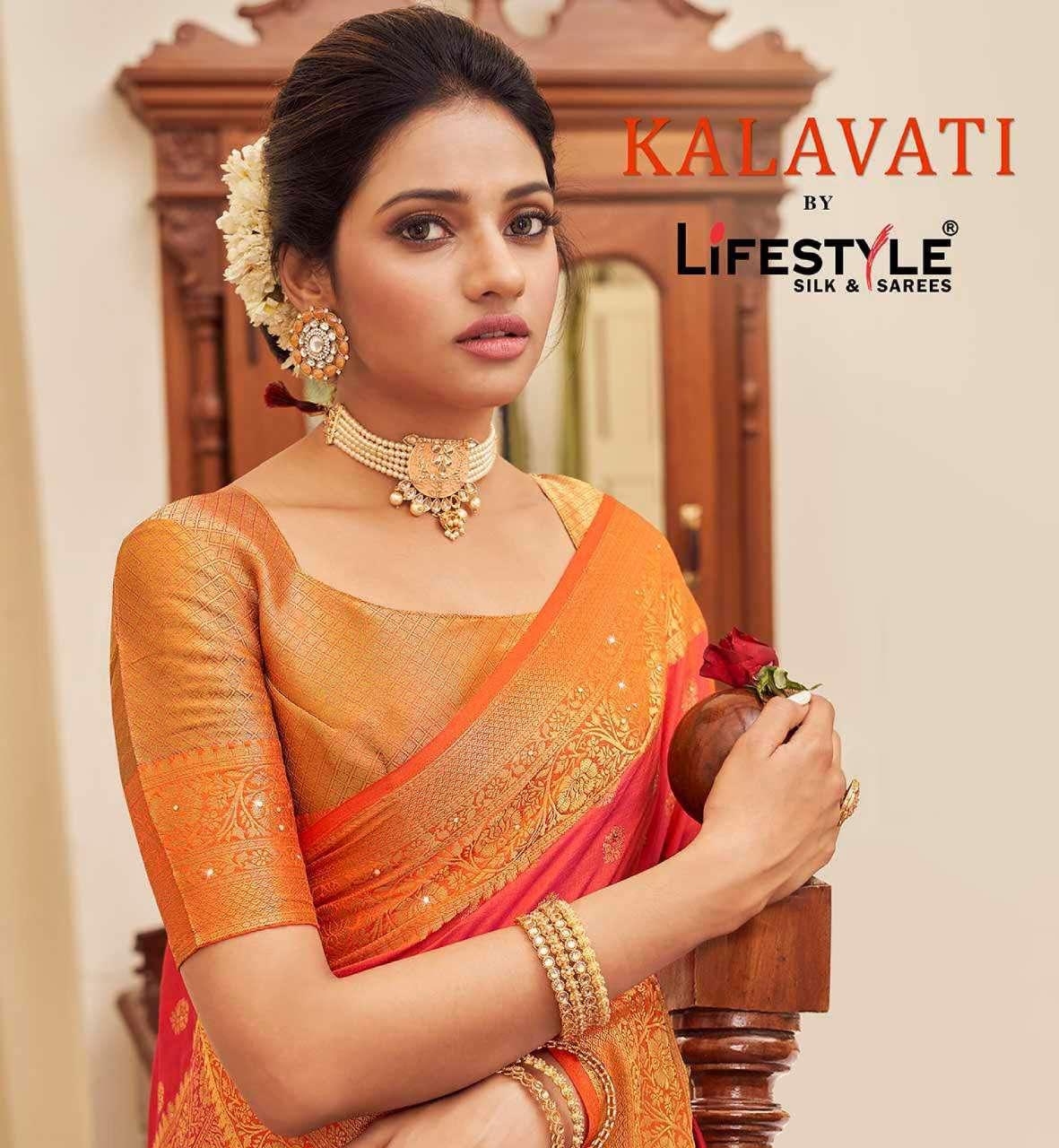 Lifestyle Kalavati Exclusive Sana Silk Saree Catalog Wholesale Dealer