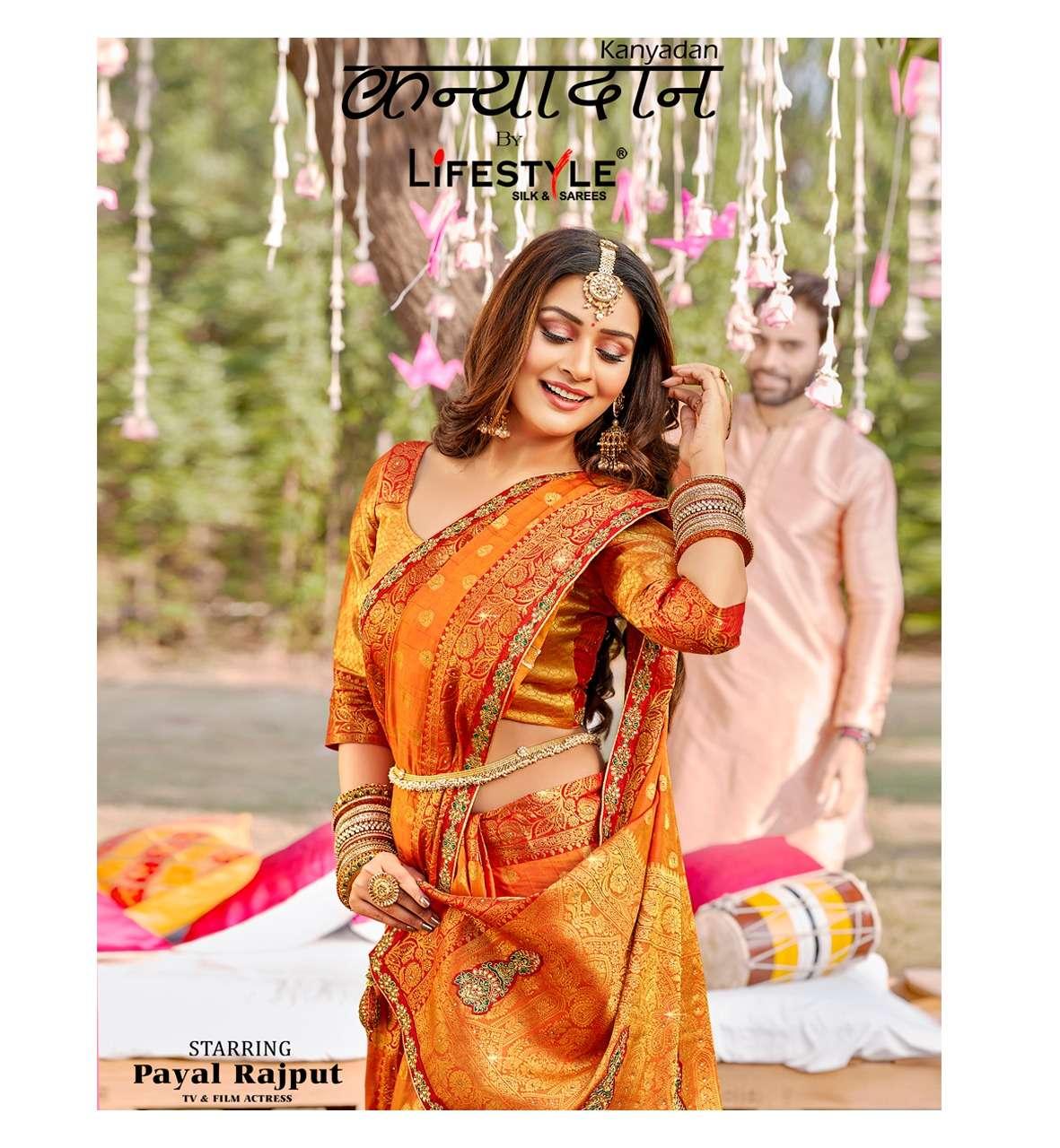Lifestyle Kanyadan Exclusive Sana Silk Saree catalog Wholesale Dealer in Surat