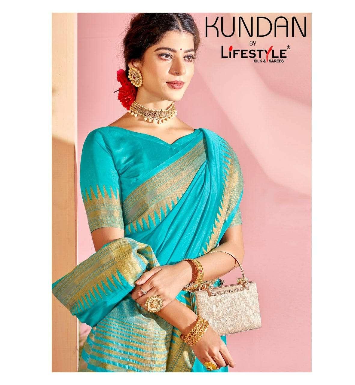 Lifestyle Kundan Vol 1 Exclusive Rich pallu Silk Saree catalog Wholesale price