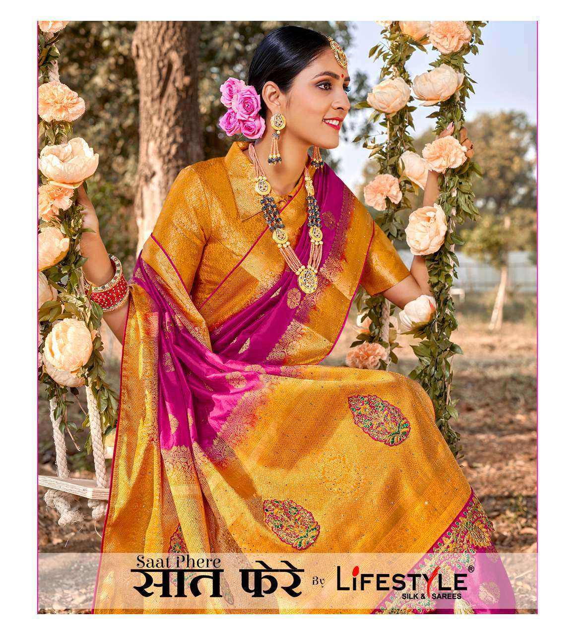 Lifestyle Saat Phere Exclusive traditional Silk Saree new Collection