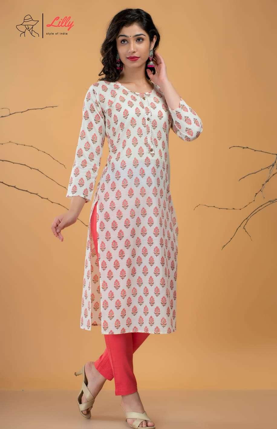 Lilly Beby Fancy Jaipuri Print Cotton Kurti Catalog Wholesale price