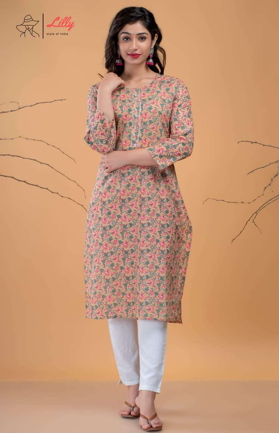 Lilly Beby Vol 2 fancy Printed Cotton Kurti Catalog Wholesale Price
