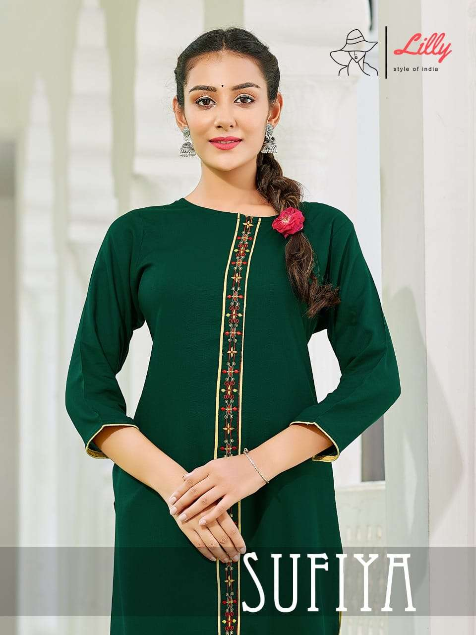Lilly Sufiya Fancy Rayon Kurti pant Set new Catalog Wholesaler