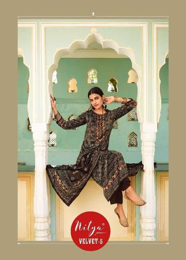 LT Fabrics Nitya Velvet Vol 5 Designer Velvet Salwar Suit Catalog Supplier