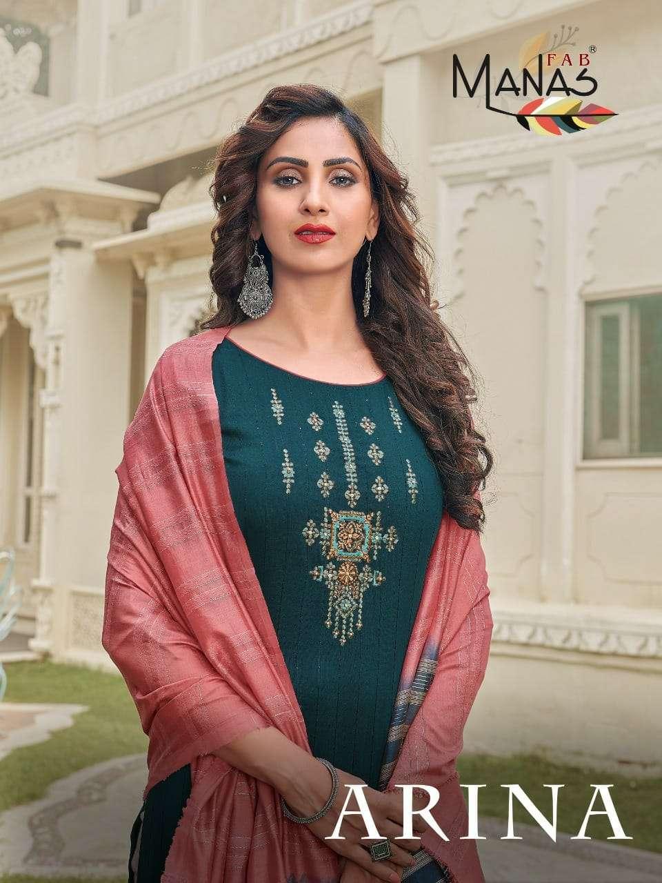Manas fab Arina Fancy Stylish 3 Piece Set Catalog Wholesale Price