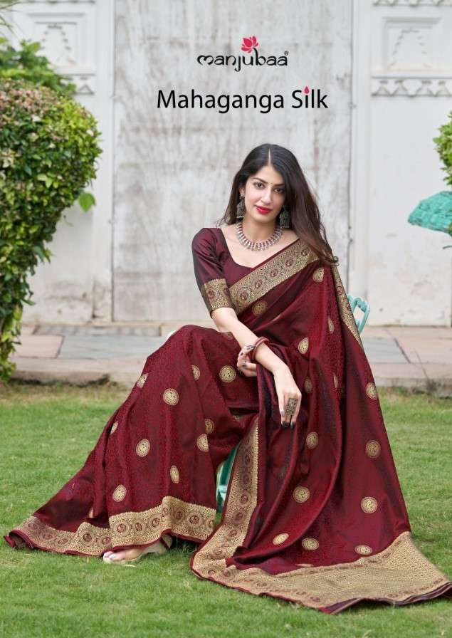 Manjuba Mahganga Silk Exclusive Traditional Silk Saree Catalog Wholesaler