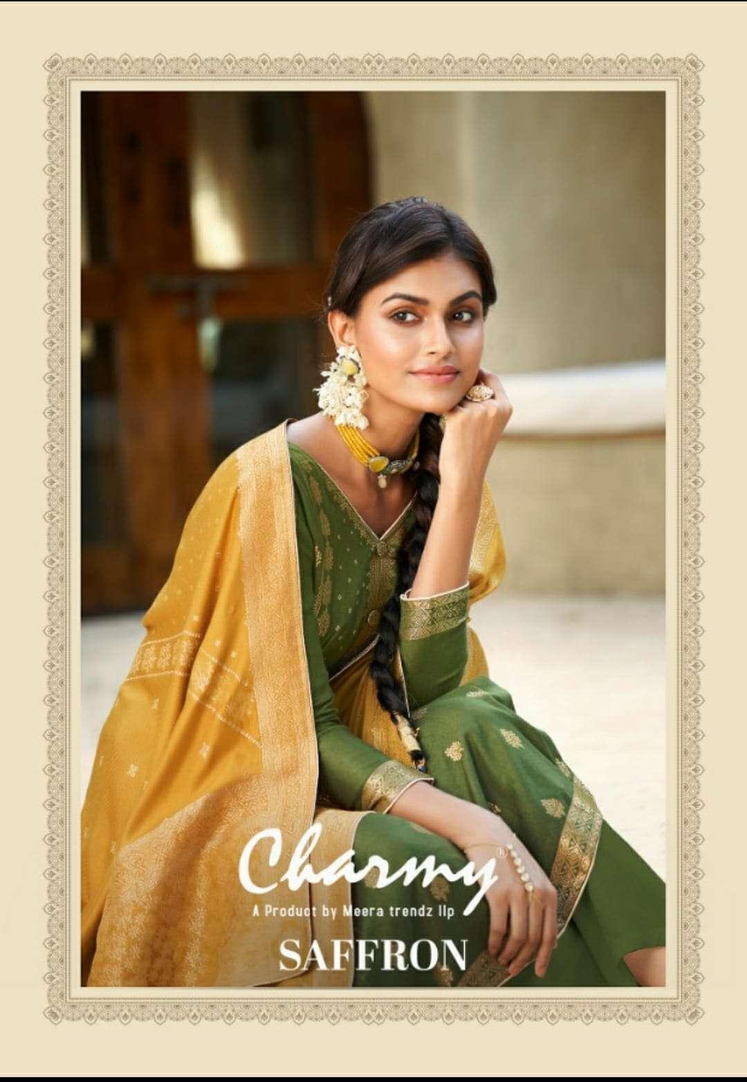 Meera Trends Charmy Saffron Exclusive Pashmina Salwar Kameez Collection