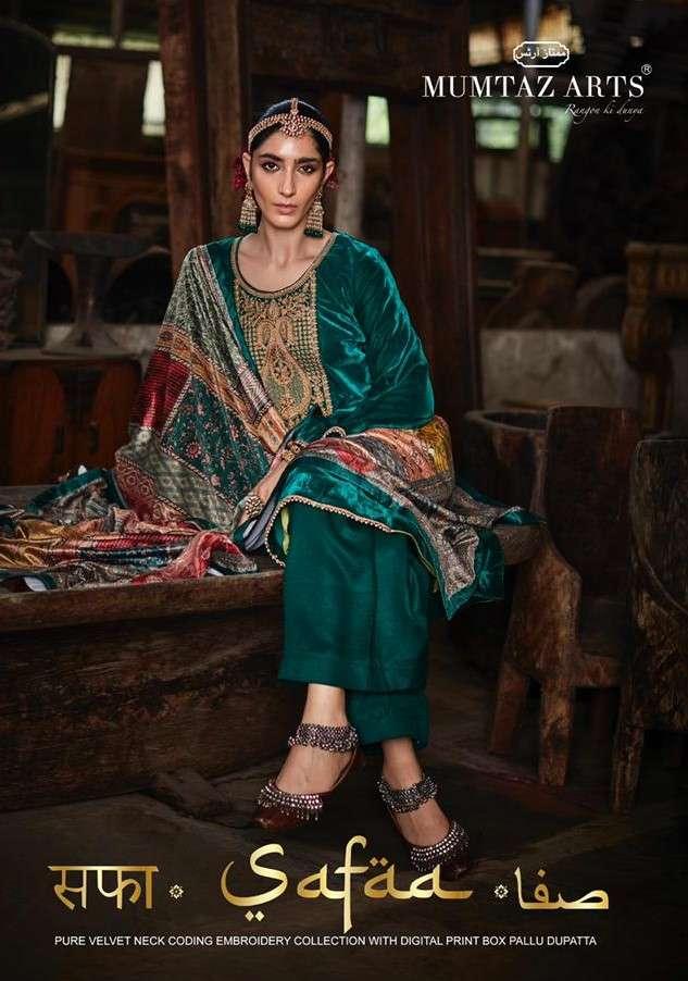 Mumtaz Arts Safaa Vol 1 Velvet Designer Winter Wear New Collection at Best Rate