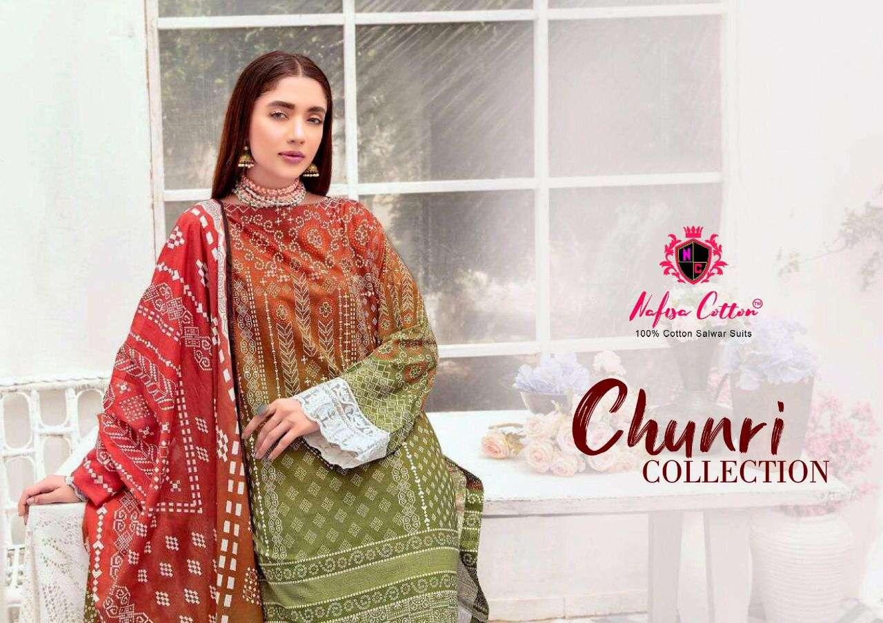 Nafisa Cotton Chunri Special Karachi Print Suit Catalog Wholesaler