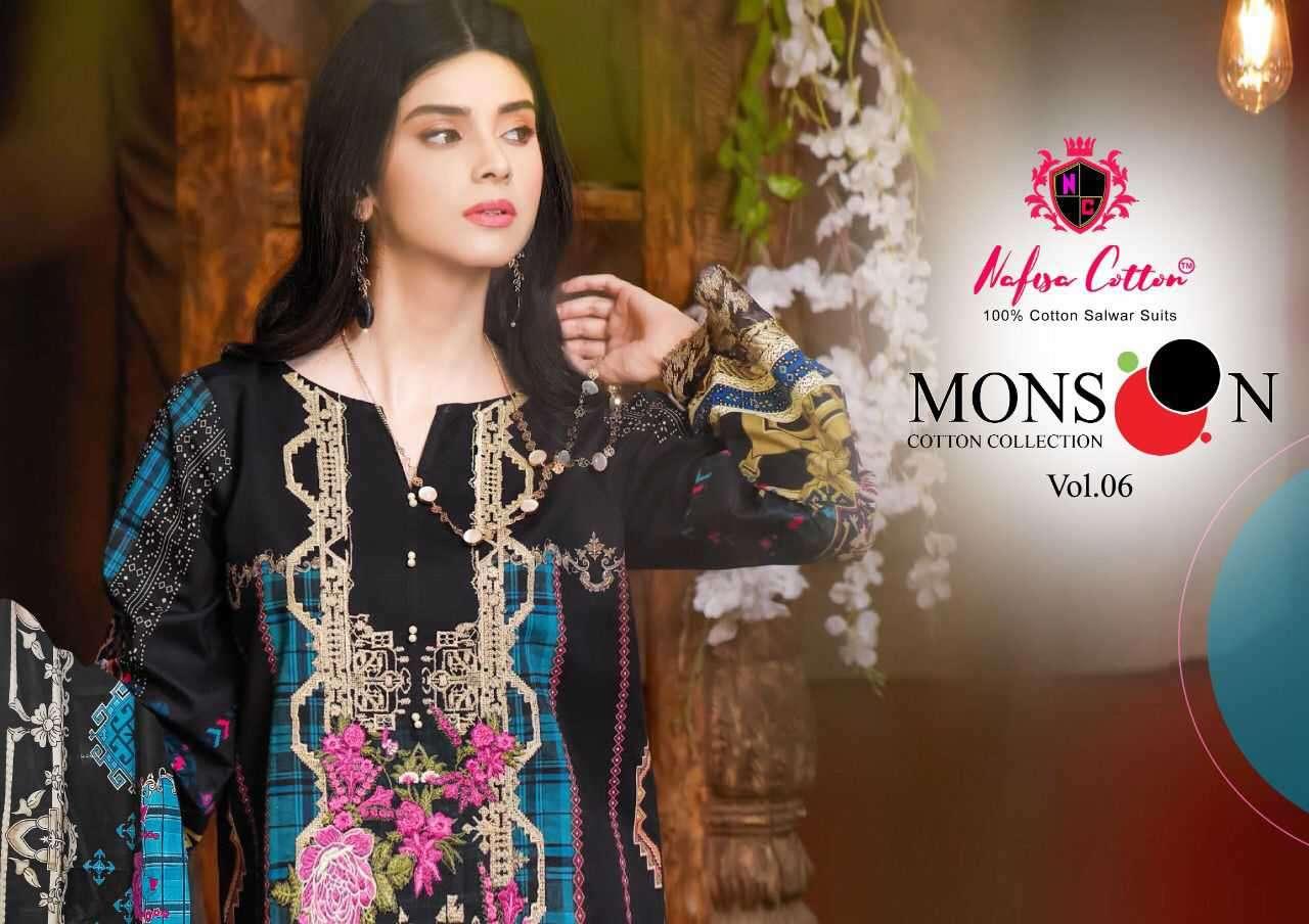 Nafisa Cotton Monsoon Vol 6 Printed Cotton Suit Wholesale