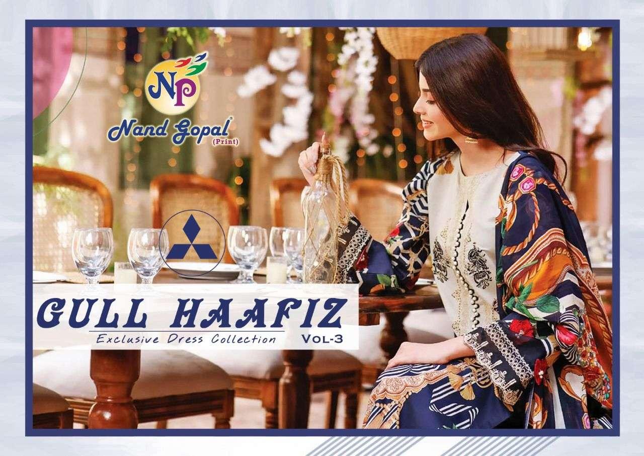 Nand Gopal Gull Haafiz Vol 3 Cotton Dress Material In Wholesale