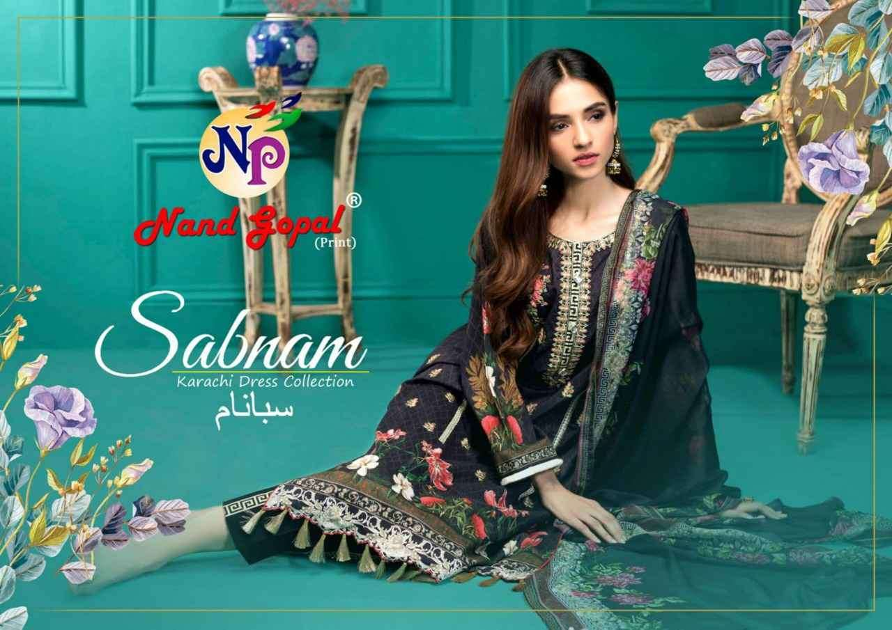 Nand Gopal Sabnam Karachi Printed Wholesale Dress