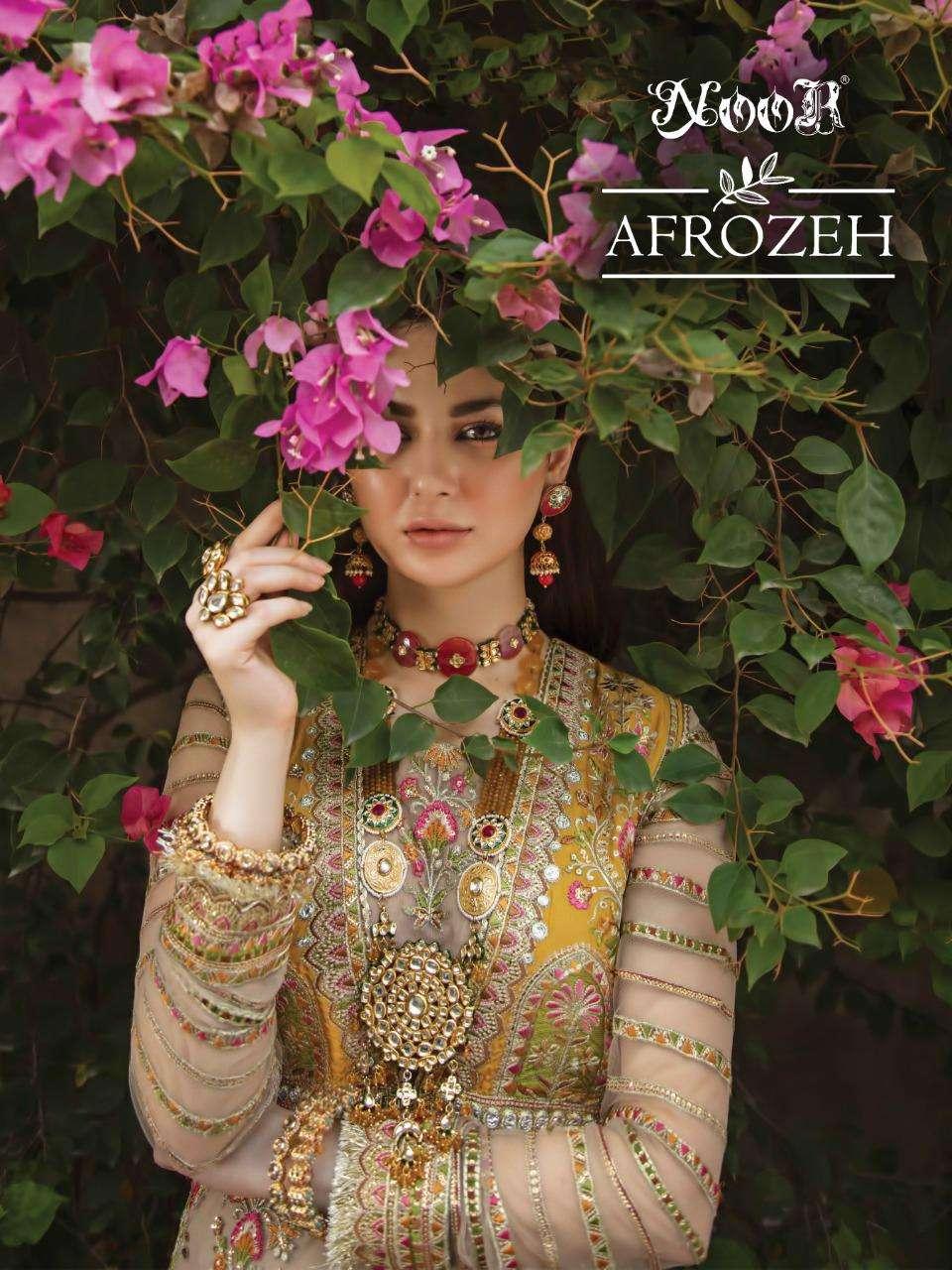 Noor Afrozeh Designer Latest pakistani Suit Catalog Wholesaler
